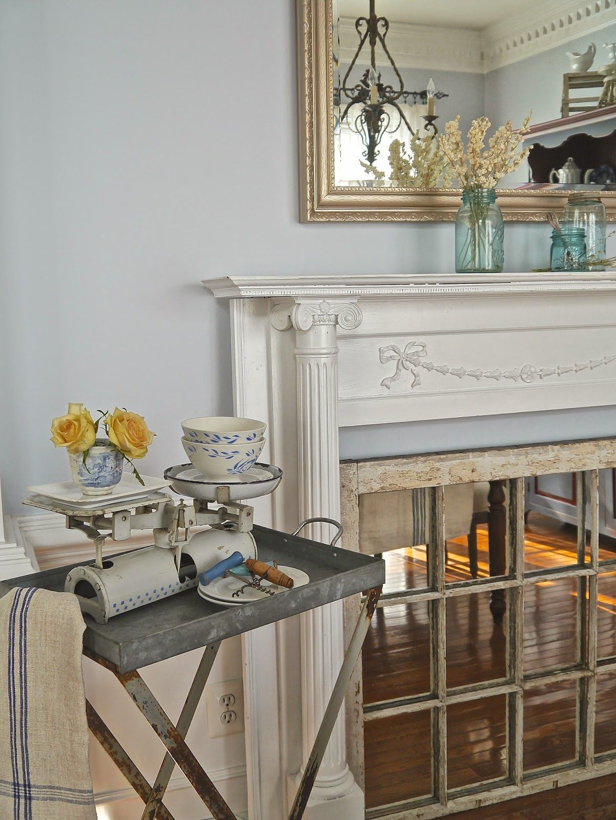Chateau Chic: Subtle Blue Accents in the Dining Room