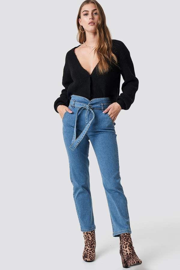 NA KD Na Kd Paperbag Denim Pants | outfit | Fashion, Denim