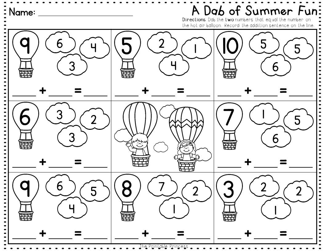 Summer Activities No Prep Pages Literacy And Math