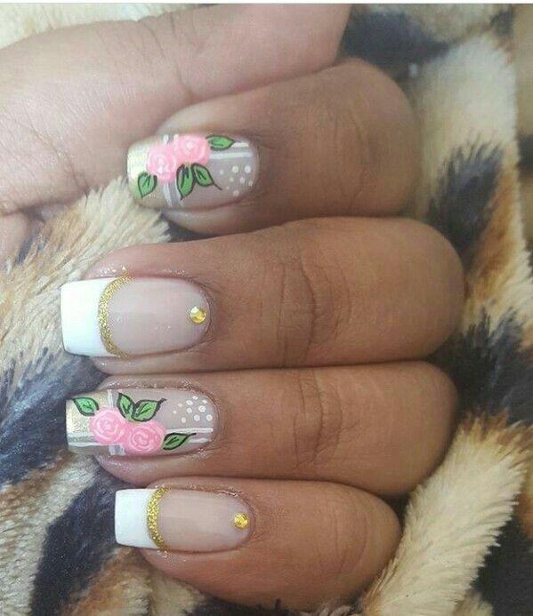Pin de Nelcy Contreras en uñas | Pinterest | Diseños de uñas, Flores ...