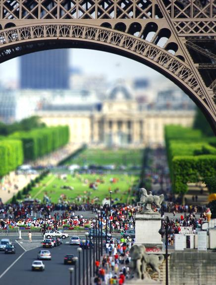 Go to Paris! / Tilt shift cameras are awesome.