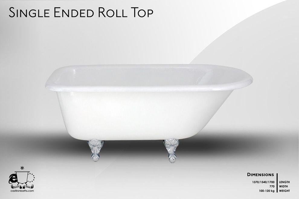 Rustic 1370 Roll Top Cast Iron Bath House Bathroom Cast