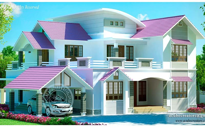 Contact Us For The Contemporary Kerala Home Designs At