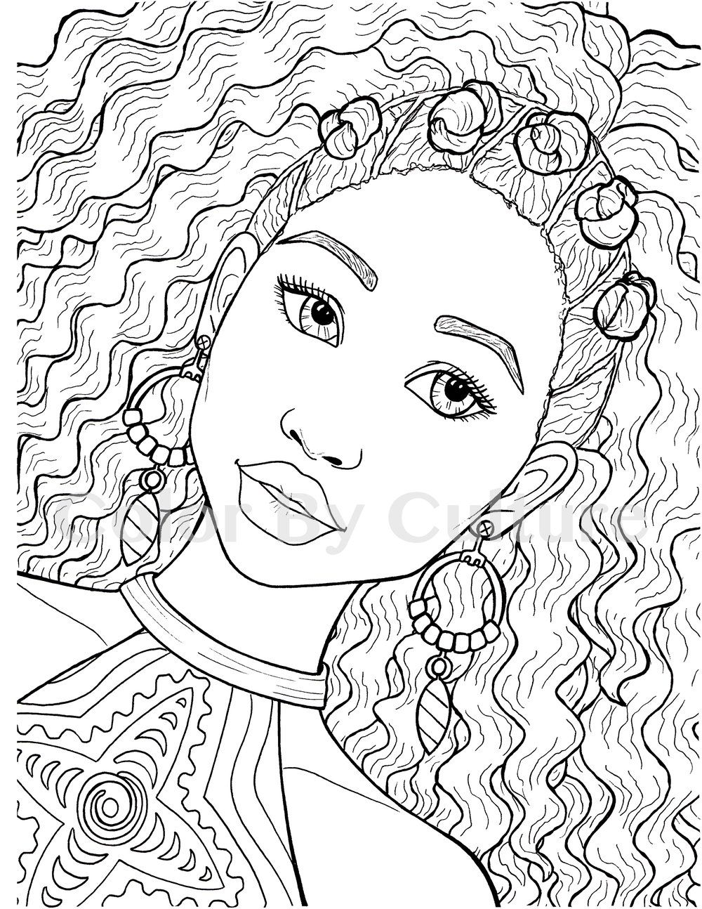 Printable Coloring Book African Fashions Color By Culture Printable Coloring Book Coloring Books Free Coloring Pages
