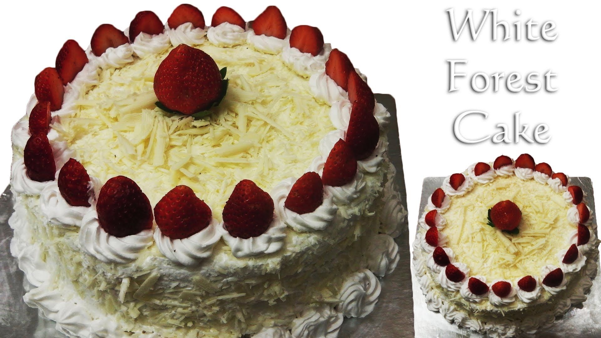 White Forest Cake Recipe In Pressure Cooker: Cooker Cake, Eggless-Without Condensed