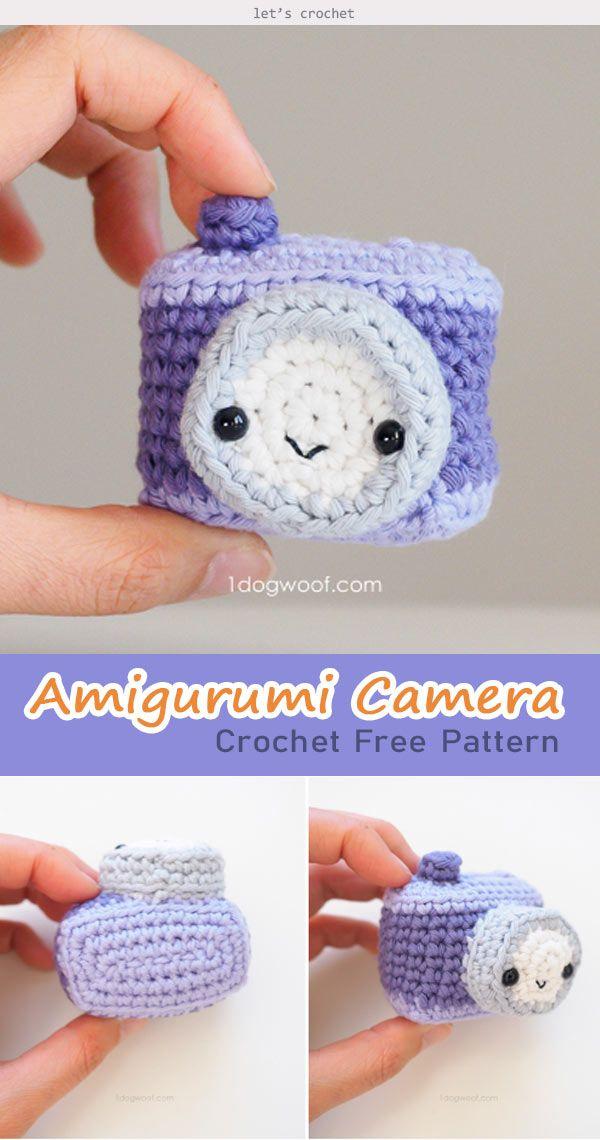 Amigurumi Camera Crochet Free Pattern #crochetcamera
