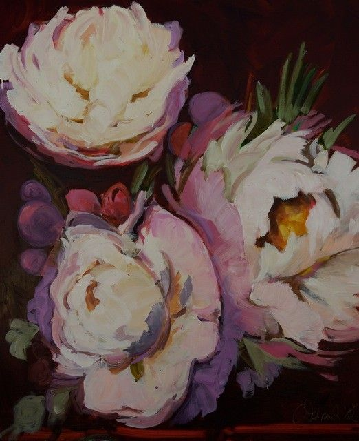 """Zartbitter rose""<br />2012, Öl auf Leinwand, 100 x 80 cm"