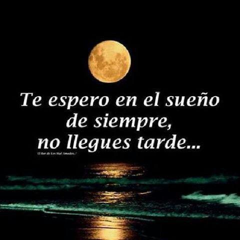 Te espero en el sueño de siempre, no llegues tarde...