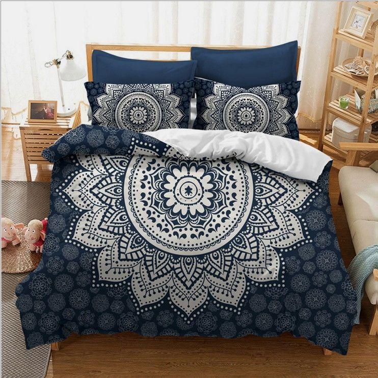 Wonderful 3d Mandala Print Bedding Sets Mandala Sheets Mandala Bedspread Boho Bedding Bohemian Bedd Bed Linens Luxury Boho Duvet Cover Duvet Covers Bohemian