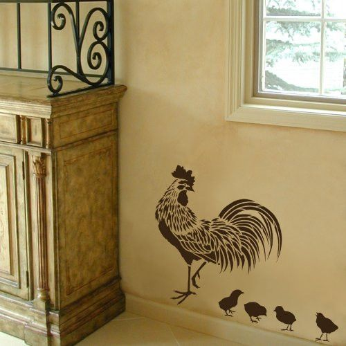 rooster stencil - easy reusable stencils for diy decor in 2019