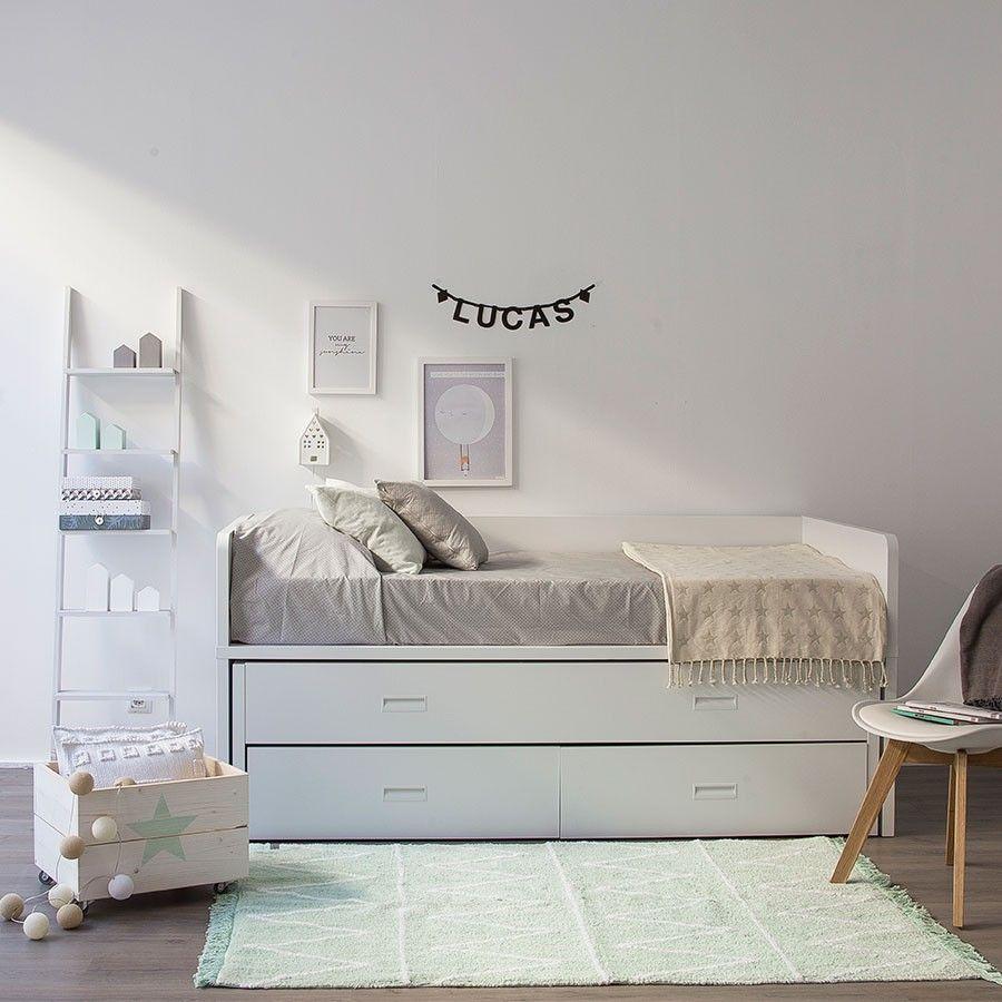 Elmo cama nido dormitorios habitaciones infantiles for Cama nido con cajones ikea