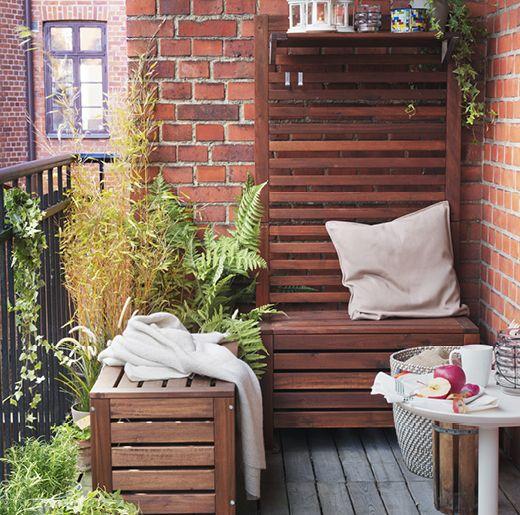 ikea applaro outdoor wall panel and outdoor storage box balkong uterom pinterest balkong. Black Bedroom Furniture Sets. Home Design Ideas