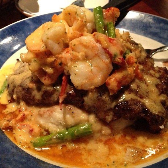 Steak Lobster And Shrimp Oscar Red Lobster Steak And Lobster Man Food Seafood Recipes