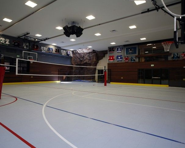 Via Indoor Volleyball And Basketball Court Home Technology Game Room Craftsman Bungalows
