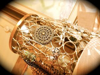 Display jewelry on a decorative oil burner!