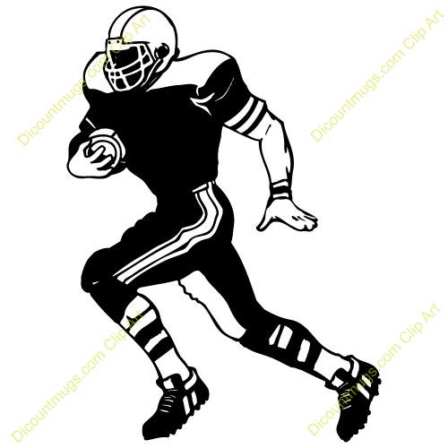 Football Player Silhouette Clip Art Football Player