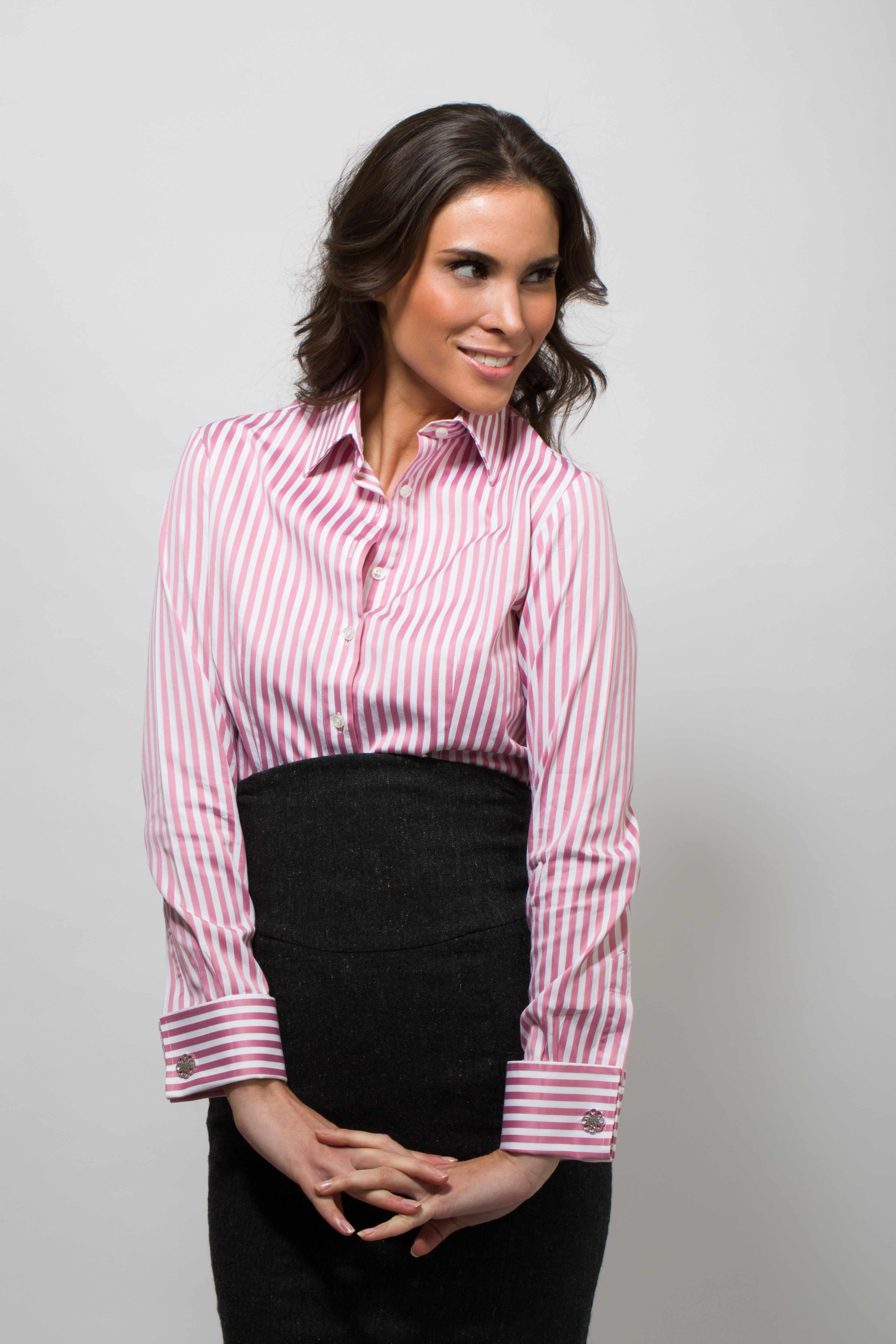Pink And White Striped Shirt With Miss Links 39 Gabriella