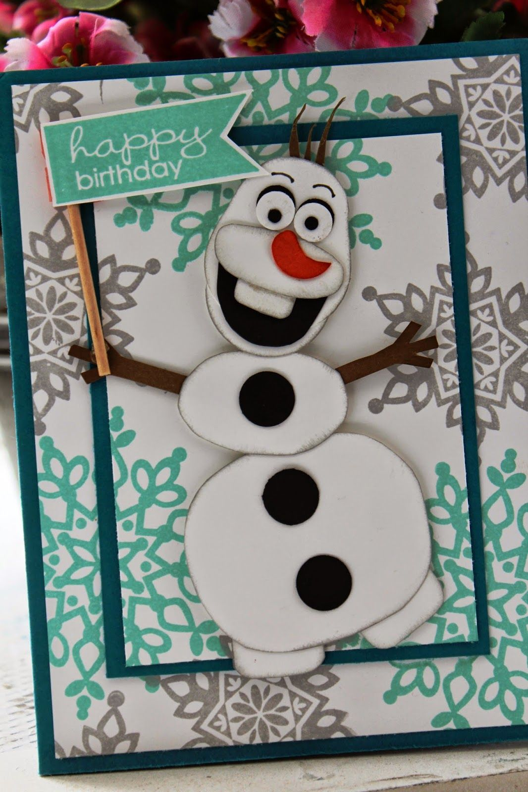 The Stampin B: Olaf Birthday Card