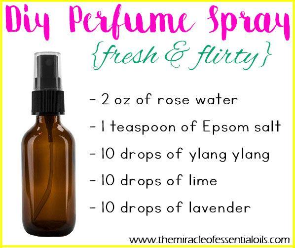 Make This Fun Fresh And Flirty Diy Essential Oil Perfume Spray And Enjoy Its Amazing Fragranc Essential Oil Perfume Spray Essential Oil Spray Homemade Perfume