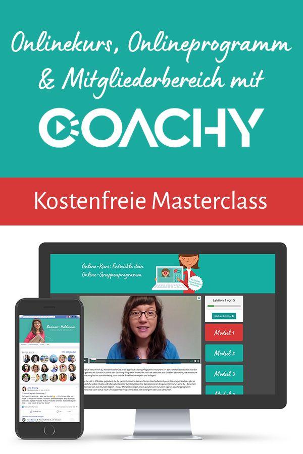 Onlinekurse und Online-Programme erstellen mit Coachy ...