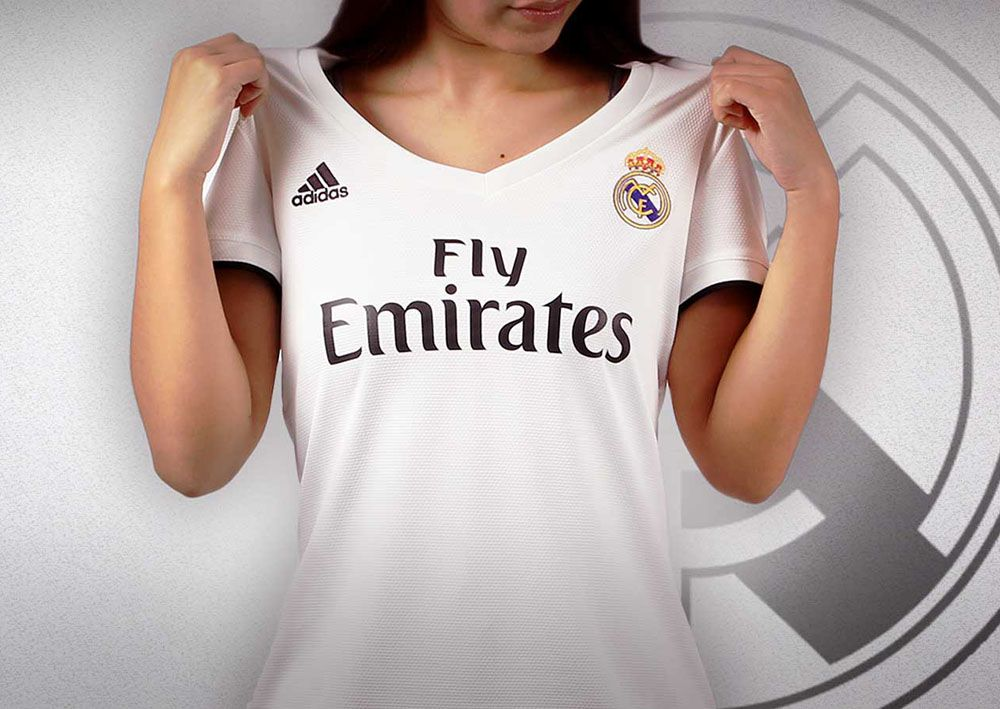 cheap for discount ad551 87264 Camiseta de fútbol del Real Madrid para mujer, temporada 2018-2019   futbolmania