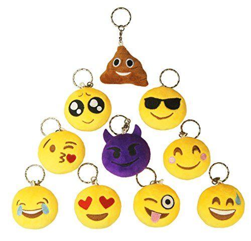 Ivenf Pack Of 10 5cm2 Mini Emoji Cushion Keychain You Can Get More