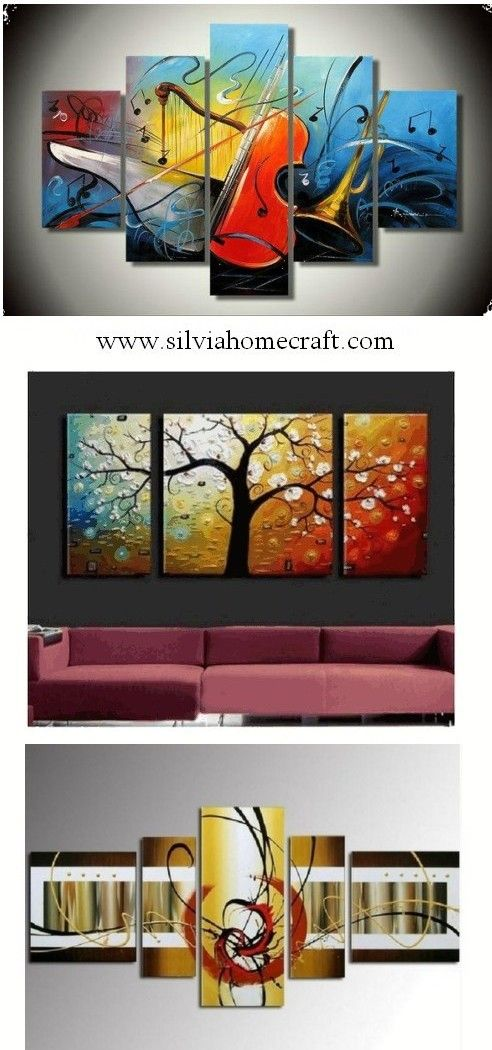 Abstract painting electronic organ violin harp piece wall art also african girl canvas rh pinterest