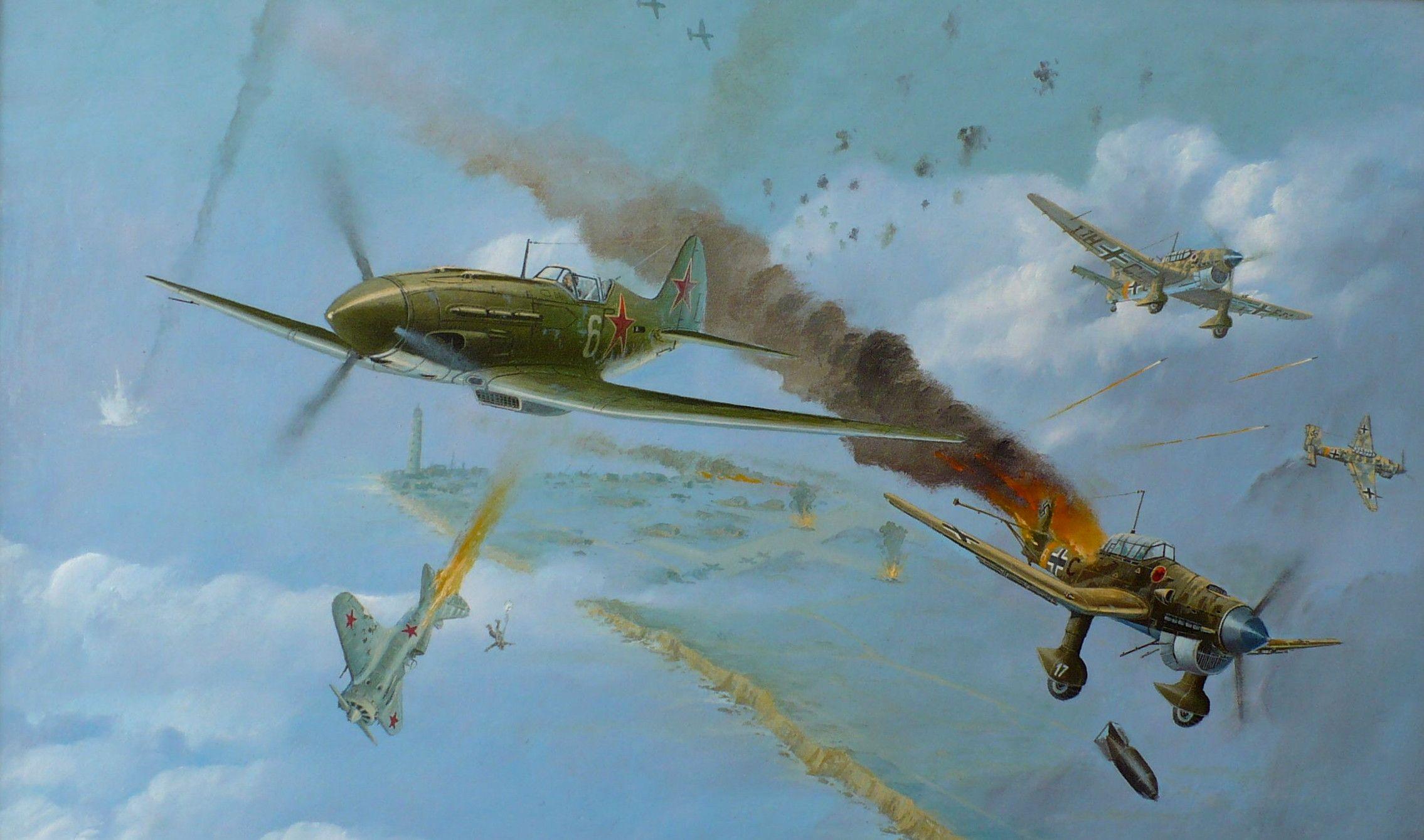 Воздушный бой война картинка