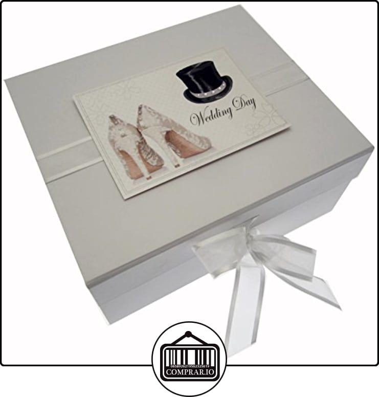 Algodón blanco Tarjetas del día de boda Pequeño cajas de joyas (sombrero de copa / Zapatos)  ✿ Regalos para recién nacidos - Bebes ✿ ▬► Ver oferta: http://comprar.io/goto/B0133AMKJM