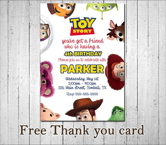 Toy story invitation toy story woody buzz jessie for Toy story invites templates free