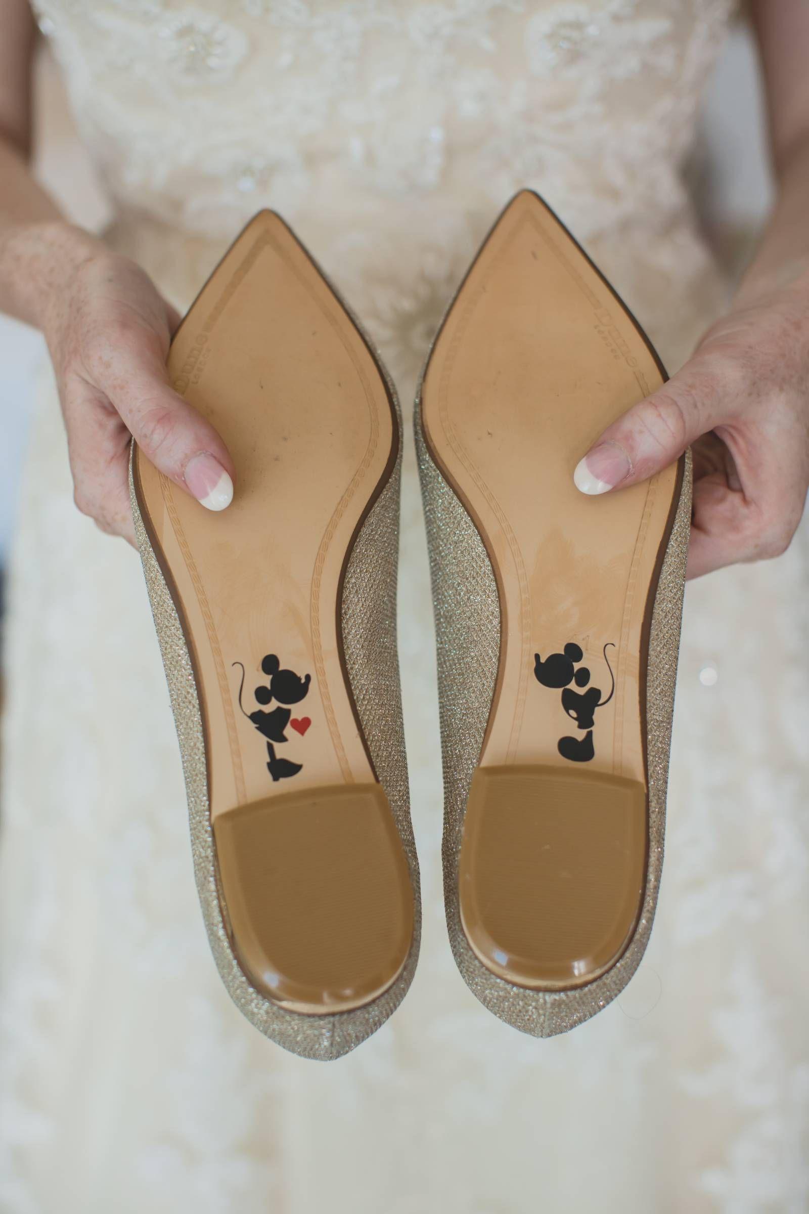 Disney Wedding Day Details Disney Inspired Wedding Bridal Shoes