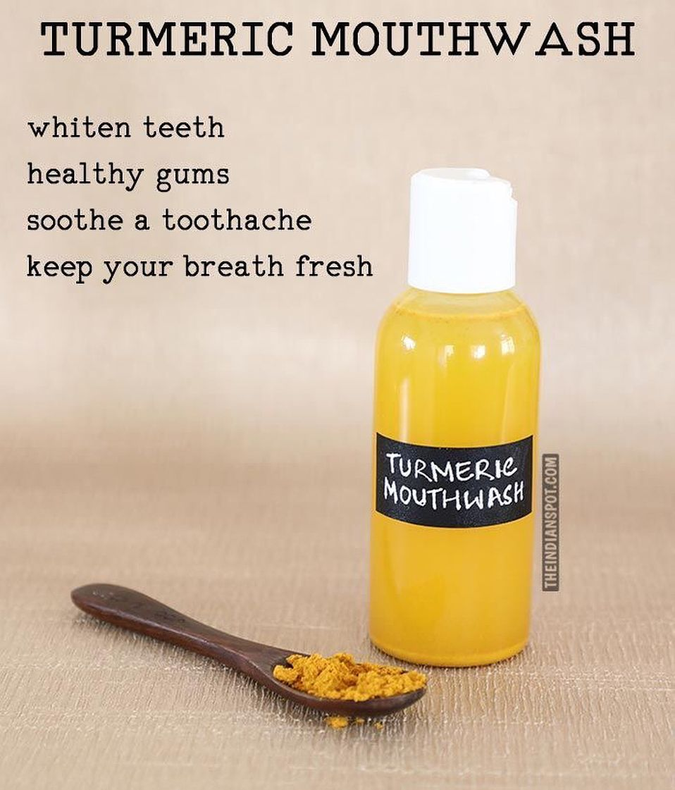 Turmeric mouthwash - Turmeric mouthwash can be used in whitening the teeth, prevention of plaque, bad breath and gingivitis. This homemade mouthwash ...