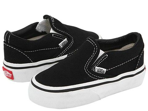 36fd120dda Vans Kids Classic Slip-On Core (Toddler) (Checkerboard) Black Pewter FA11 -  Zappos.com Free Shipping BOTH Ways