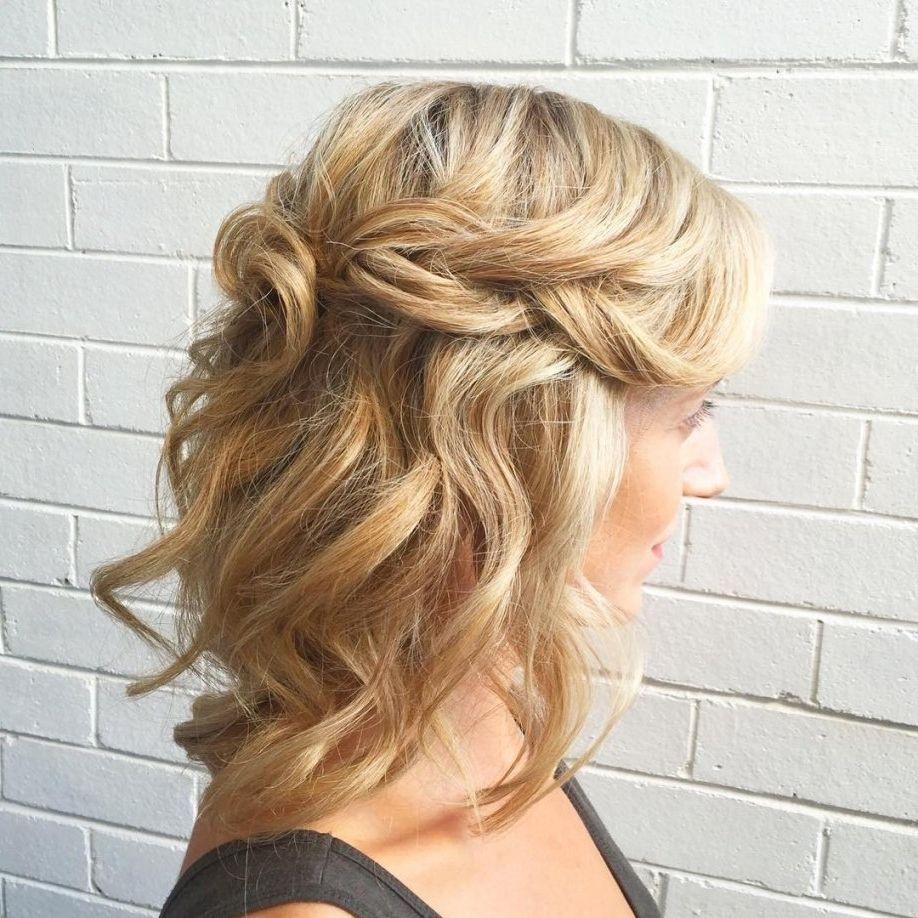 Explore Gallery Of Half Up Half Down Wedding Hairstyles For Medium Length Hair 3 Of 15 Medium Length Hair Styles Short Wedding Hair Medium Hair Styles