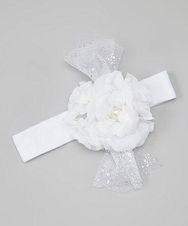 Look what I found on #zulily! White Flower Headband #zulilyfinds