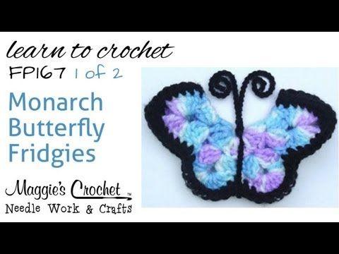 Crochet 3D Butterfly Free Pattern-Video | Mariposa monarca, Monarcas ...