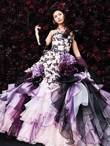 Purple Bridal Gown Available In Every Color Dark Wedding Dresses