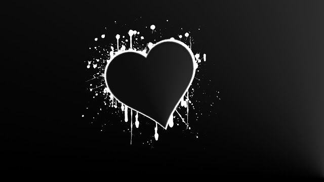 35+ Trends For Background Black Wallpaper Heart Images Hd