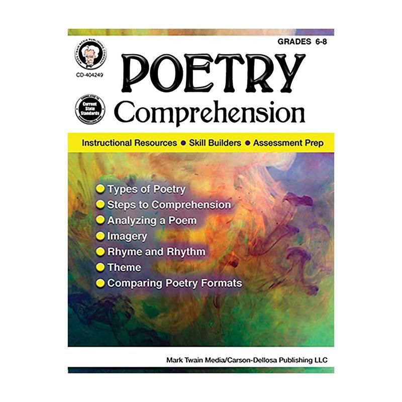 Poetry Comprehension Gr 6 8 School Supplies Store Pinterest