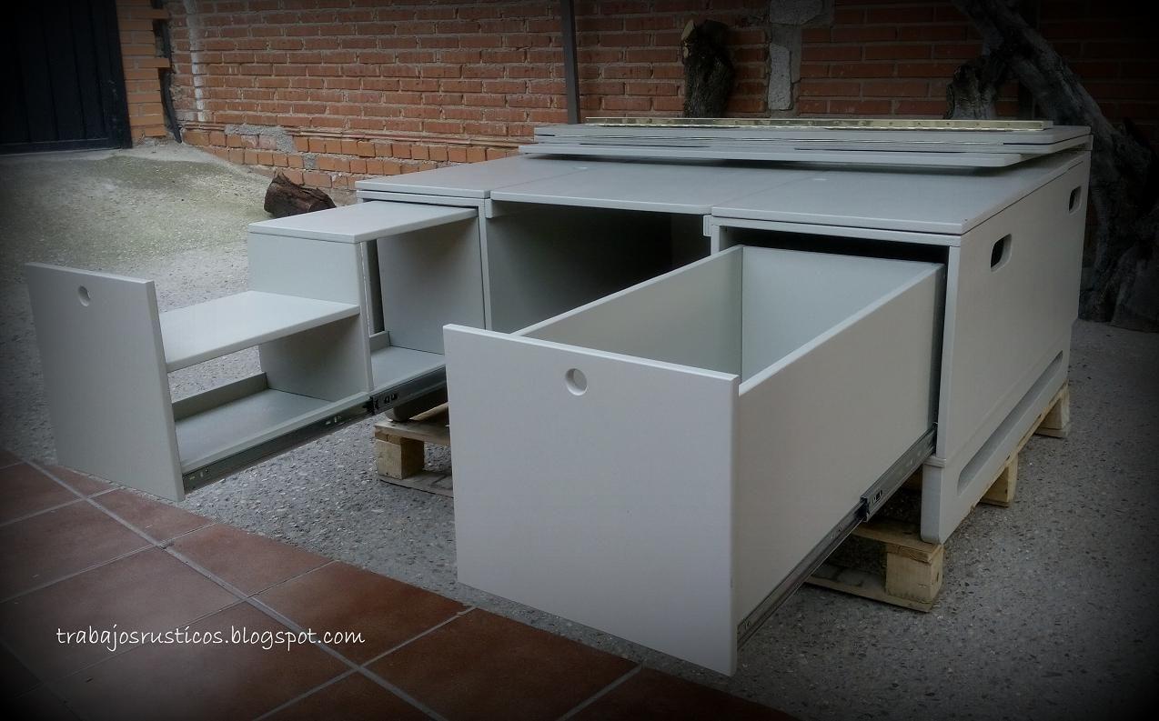 Artesan A Madera Muebles De Madera R Sticos Camperizaciones  # Mueble Vagoneta