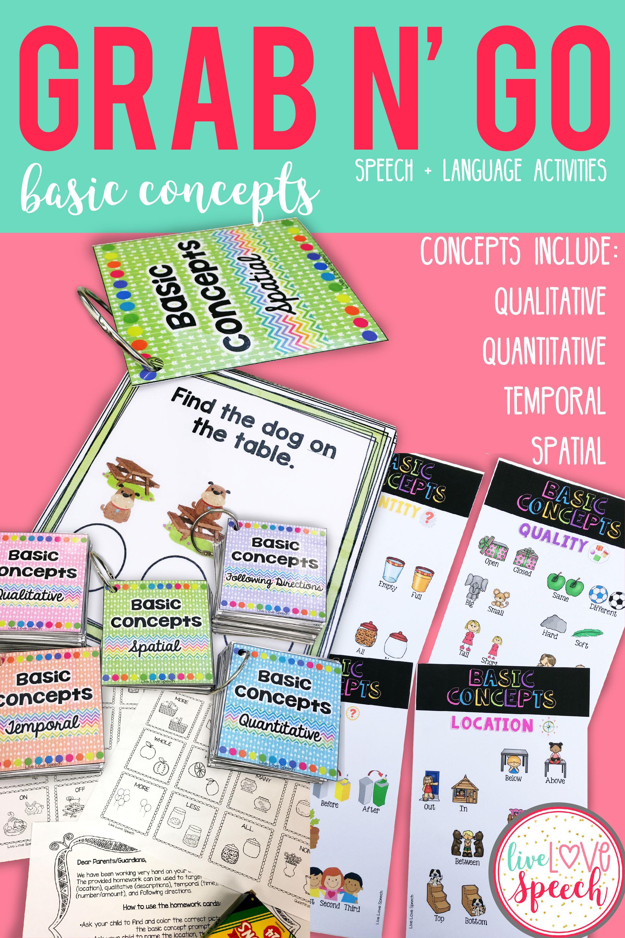 Grab N Go Basic Concepts Temporal Spatial Qualitative
