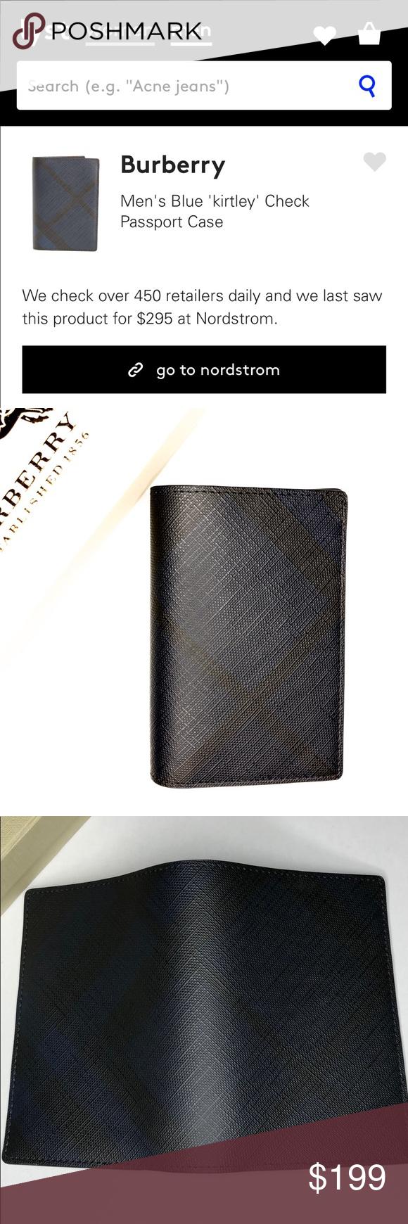 D Burberry Kirtley Check Passport Holder Wallet Passport Holder