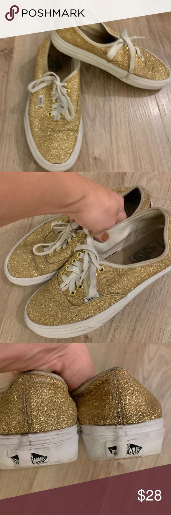 gold sequin vans