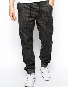 c461cd27e804f7 New Look Jogger Jean In Acid Wash