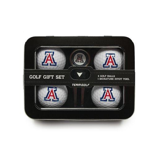 Team Golf University of Arizona 4-Ball Tin Gift Set