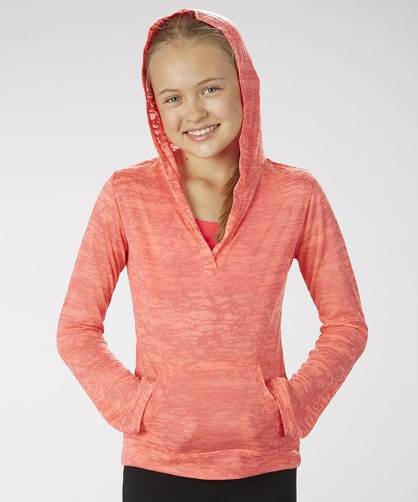 Take a look at this Marika Diva Pink Burnout Hoodie on zulily today!