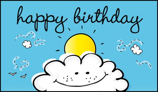 Free On A Cloud Ecard Email Free Personalized Birthday Cards