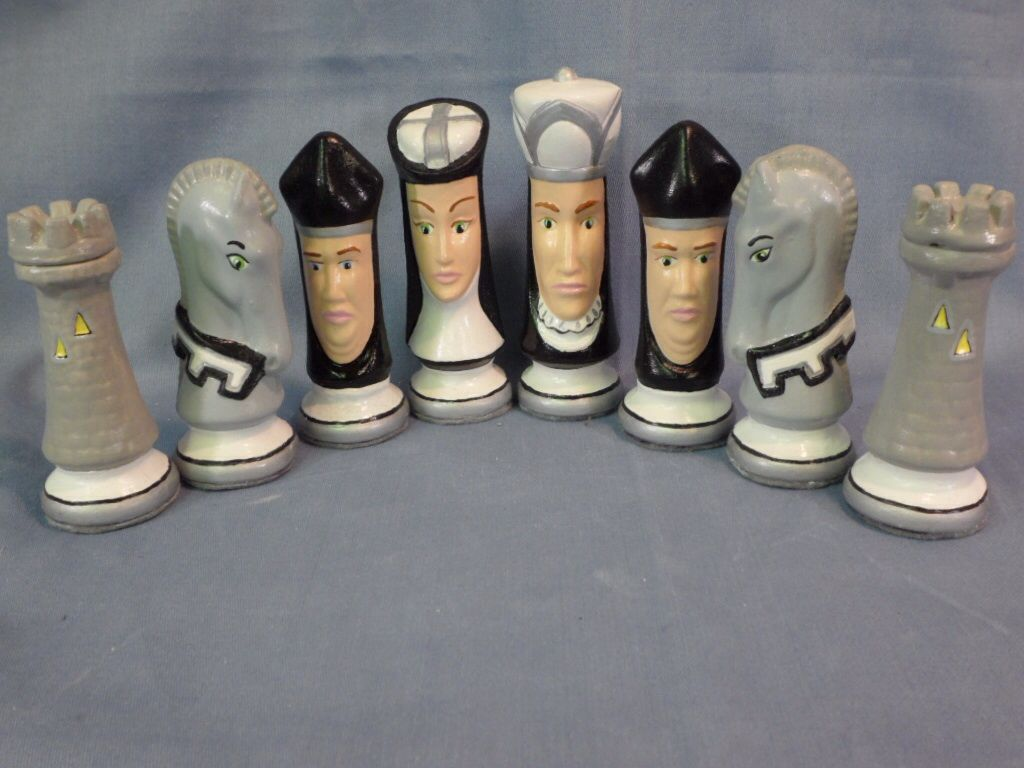 Raiders custom chess set ceramics pottery pinterest chess sets chess and jewelry ideas - Ceramic chess sets for sale ...