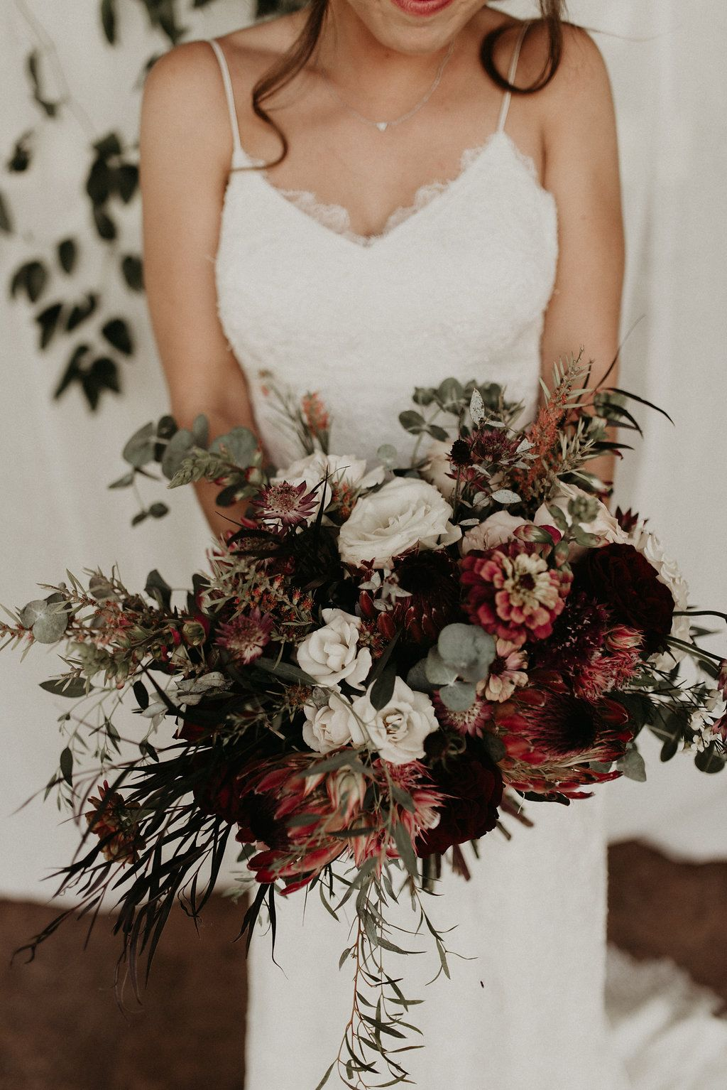 Moody Bridal Bouquet Bridal Bouquet Fall Moody Wedding Flowers Affordable Wedding Flowers