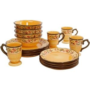 Very Tuscan Dinnerware set and just $35 for 16-pieces.   Tuscany st ...